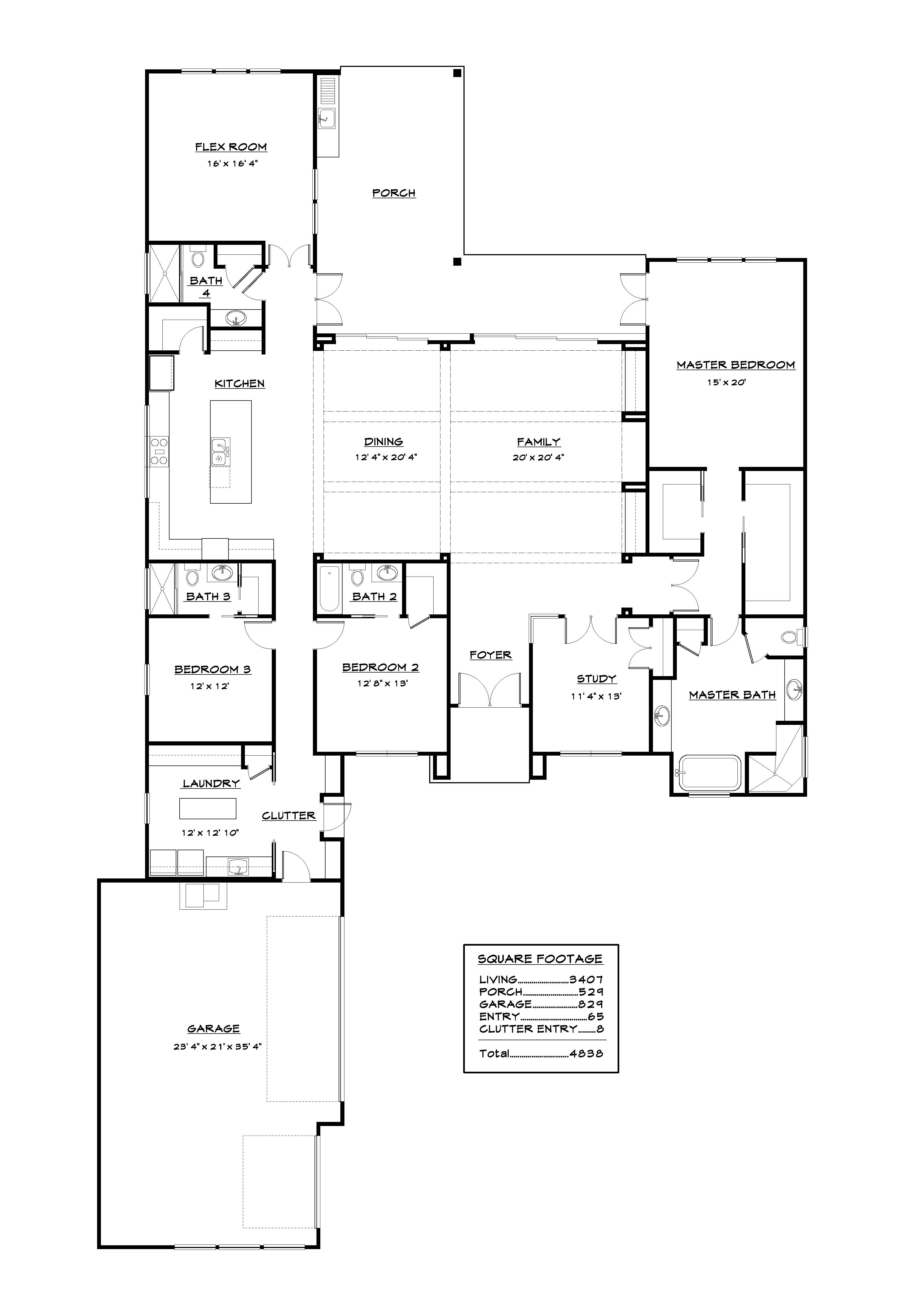 Model3407 2017 Barry Bullard Homes Floor Plans